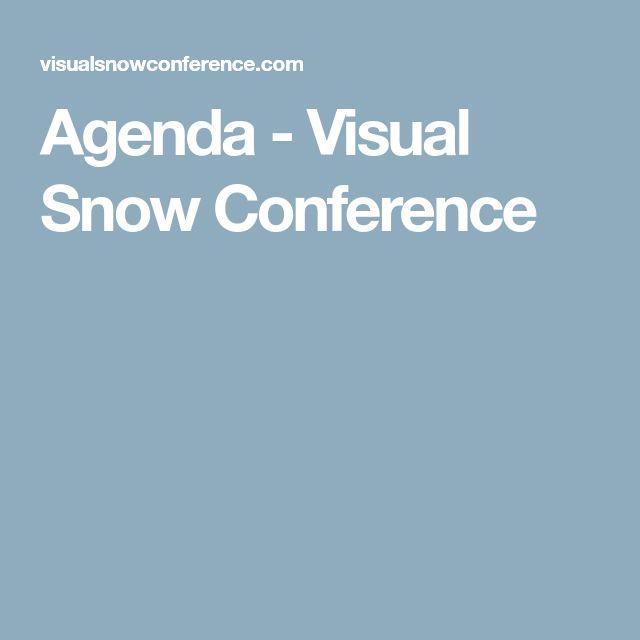 Agenda - Visual Snow Conference