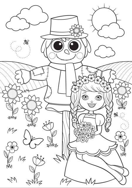 Daniela Massironi - BK84351_girl_scarecrow-01_COLORING ...