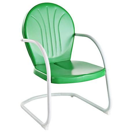Griffith Nostalgic Grasshopper Green Metal Outdoor Chair