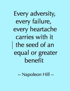 """Don't give up. From Napolean Hills classic """"Think and Grow Rich"""""""