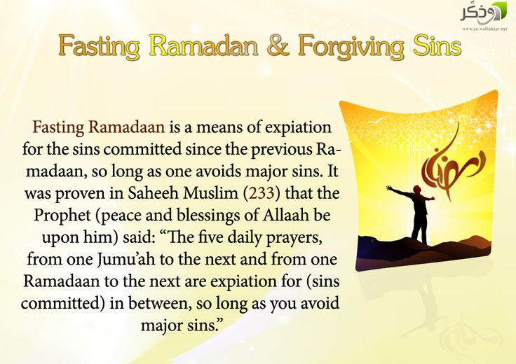 Fasting Ramadan  Forgiving Sins