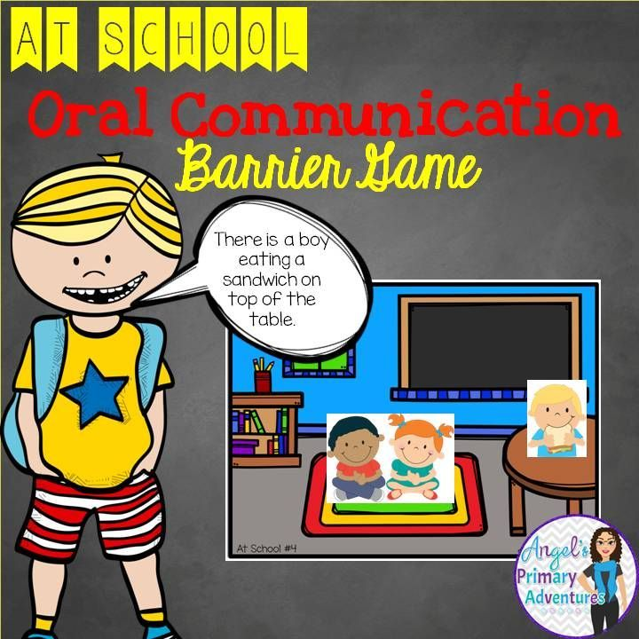 This barrier game is a fun tool for oral communication skills!  With a Back to School theme, your students will enjoy practicing their communication skills.
