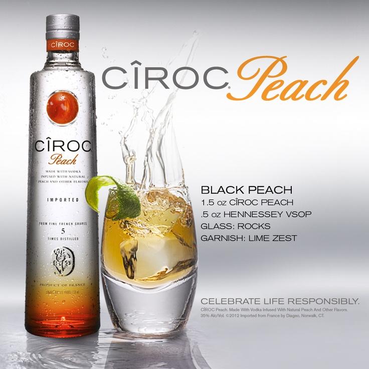Black Peach, Ciroc Peach Vodka cocktail