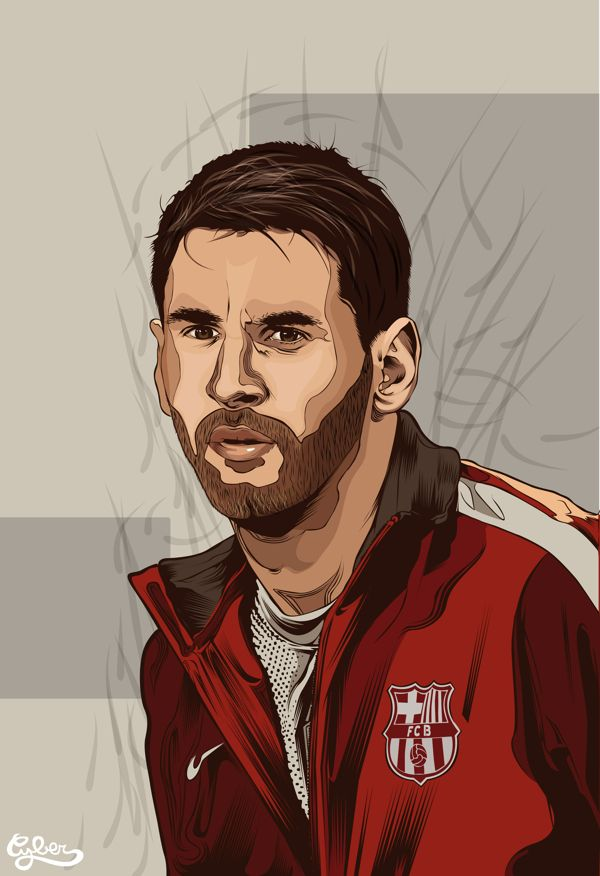 Messi Vector by Cyber , via Behance
