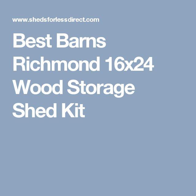 Best 25 wood storage sheds ideas on pinterest wood shed for 16x24 garage kit