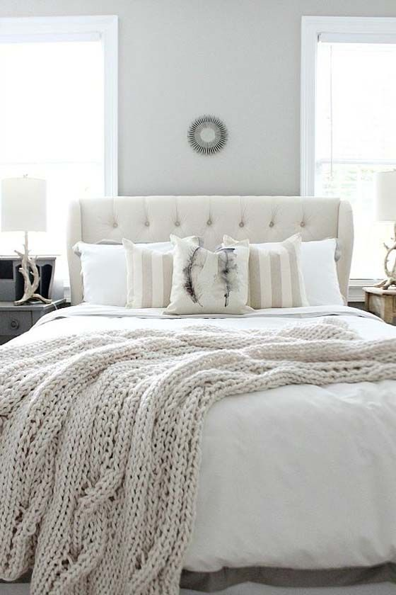 white farmhouse style bedroom
