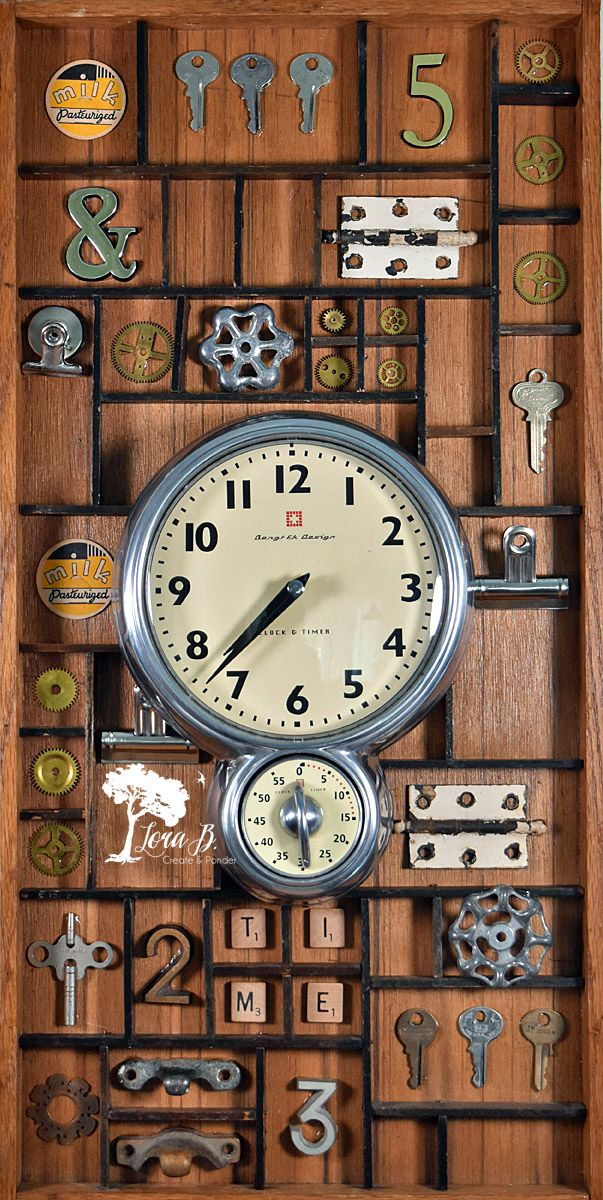 Re-purpose a Vintage Printer's drawer as an artistic Clock Display