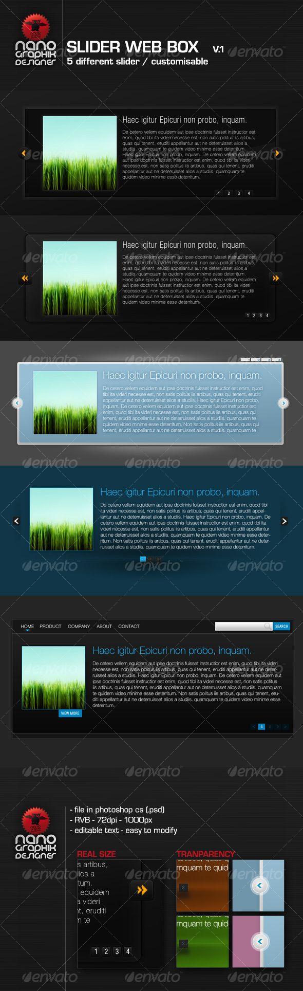 slider web box v11 - #Miscellaneous #Graphics Download here: https://graphicriver.net/item/slider-web-box-v11/84596?ref=alena994