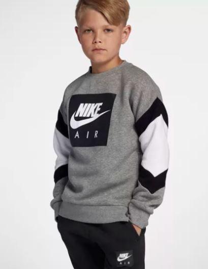 97cd58777 Nike Air Sudadera para Niño. AJ0114