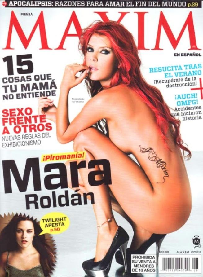 @Mara Roldan portada de la revista #maxim #modelo