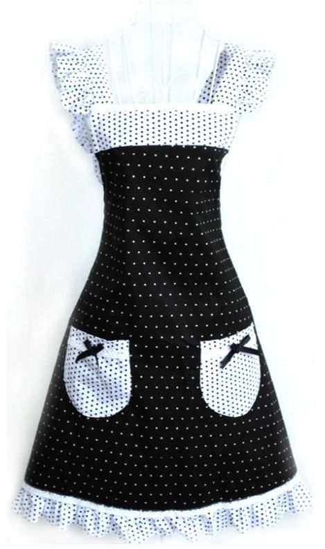 Princess Polka Dot Retro Vintage Apron ($18.99) ... #wedding wishlist #bridal shower gift