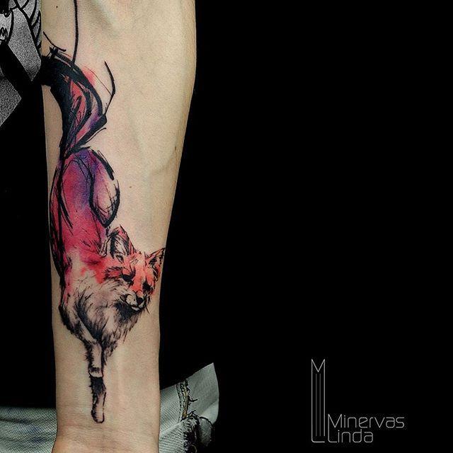 ein fuchs f r evelyn minervaslinda tattoo berlin tattoos pinterest tattoo berlin. Black Bedroom Furniture Sets. Home Design Ideas