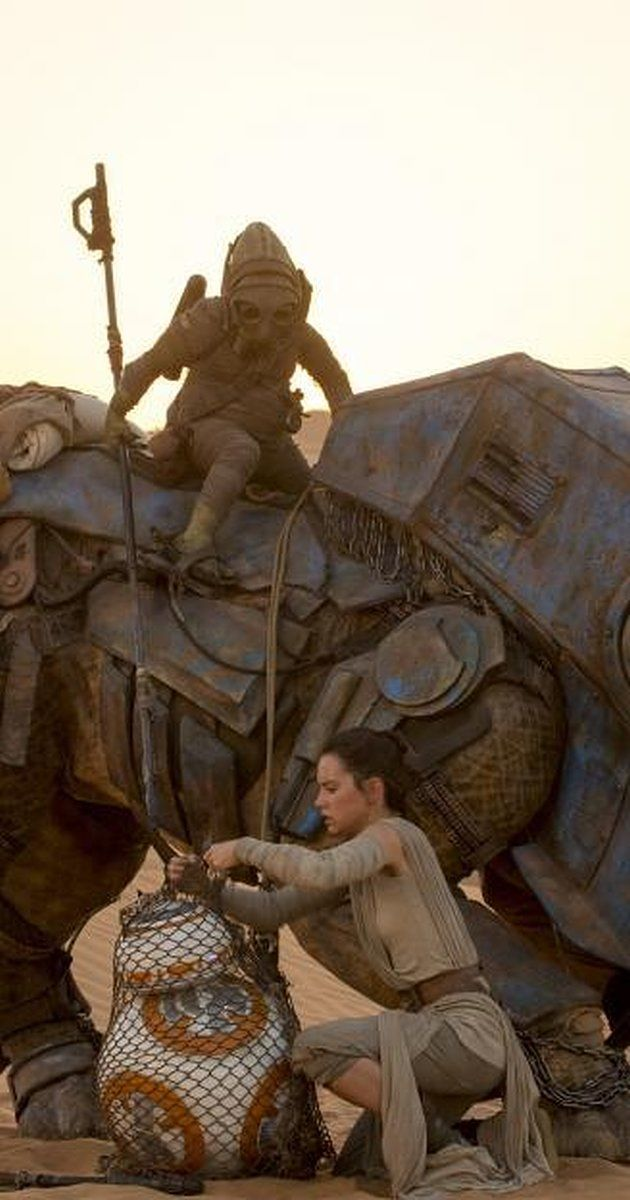 Daisy Ridley plays Rey with BB8 in Star Wars VII