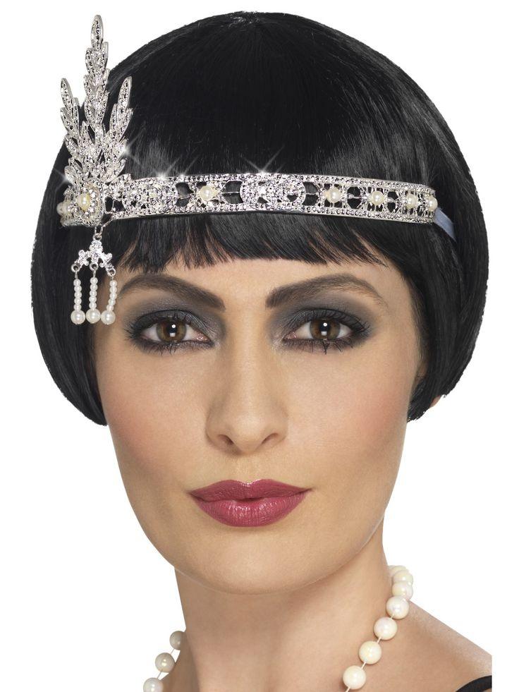 Flapper-tytön päänauha. Materiaali metallia.