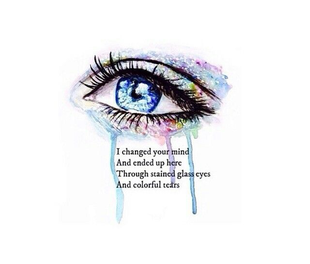 Pierce Ths Veil // Stained Glass Eyes And Colorful Tears