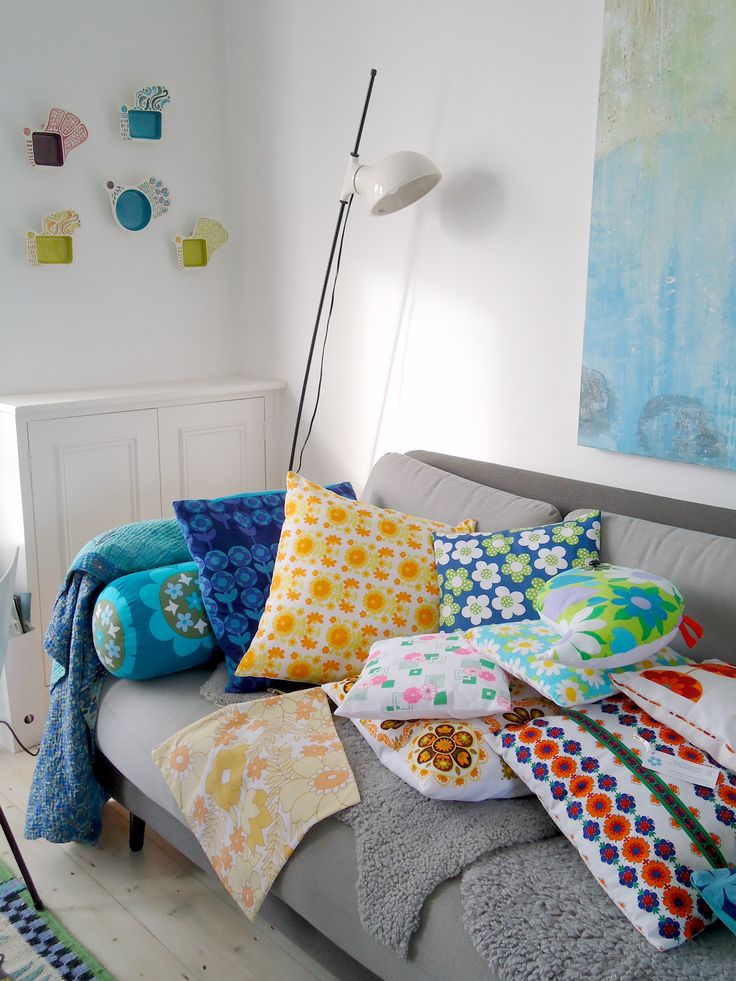 modflowers cushions - ready for their close-up!