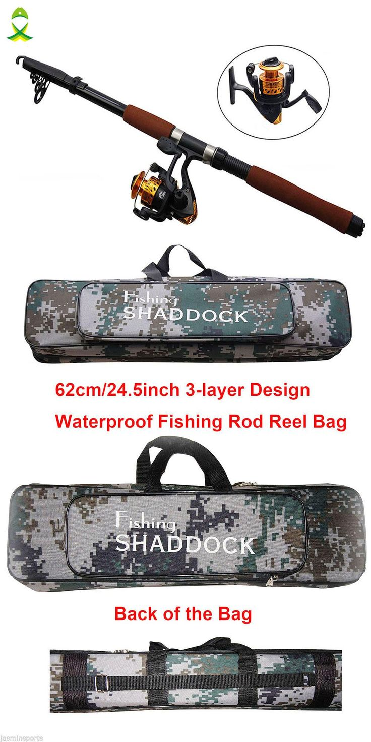 [Visit to Buy] JSM 2.4m Fiberglass Telescope Baitcasting Fishing Rod And Reel Fly Fishing Casting Spinning Fishing Rod And Waterproof Bag Combo #Advertisement