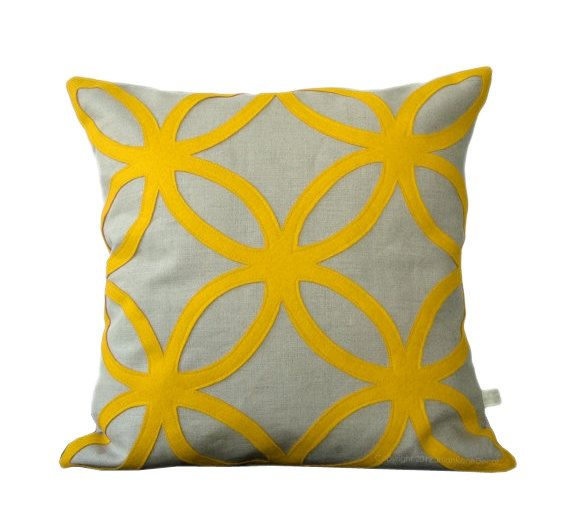 Bright Yellow Decorative Pillows : 30 best images about Bright Yellow Throw Pillows on Pinterest Sofa pillows, Living rooms and Gray