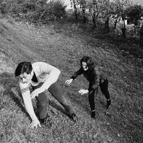 Alain Delon and Romy Schneider.