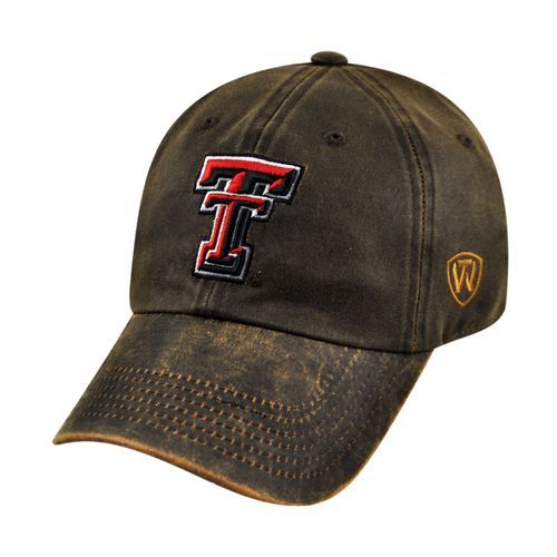Top of the World Adults' Sienna Adjustable Texas Tech Baseball Cap (Brown, Size One Size) - NCAA Licensed Product, NCAA Men's Caps at Academy Sports