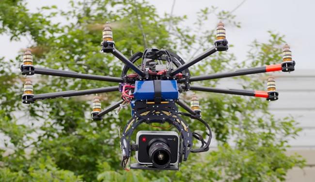 Black Magic Cinema Camera Onboard Skypower's CINIPRO