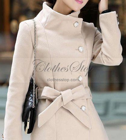 Women's Camel Belted Coat | ClothesStop