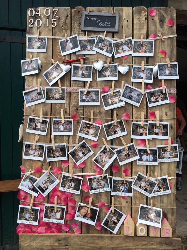 Hochzeit, Gästebuch, Polaroid Kamera, Blüten Fotoalbum