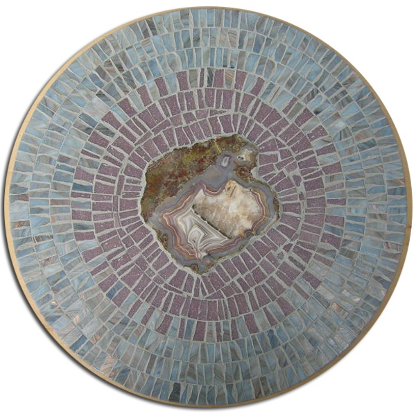Mosaic Lazy Susan With Laguana Agate Created By ZaZa