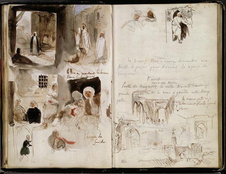 Album d'Afrique du Nord et d'Espagne - Delacroix   (1798-1863)