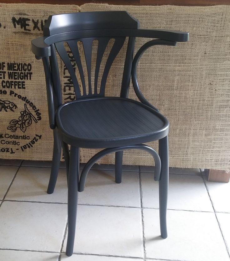 Chaises fauteuils bistrot revisitées gris carbone : Meubles et rangements par passe-actuel