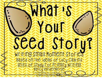 Important ---- What's Your Seed Story?  Small moments