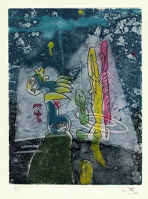 ROBERTO MATTA - LA MYSTICITÉ CHARNELLE - KUNZT.GALLERY http://www.widewalls.ch/artwork/roberto-matta/la-mysticite-charnelle/ #Print
