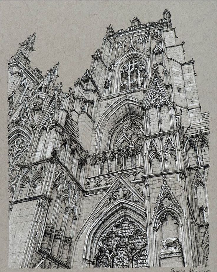 Cathedral sketchbook illustration by Phoebe Atkey