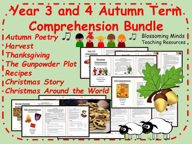 Year 3 and 4 Autumn Term Comprehension Pack