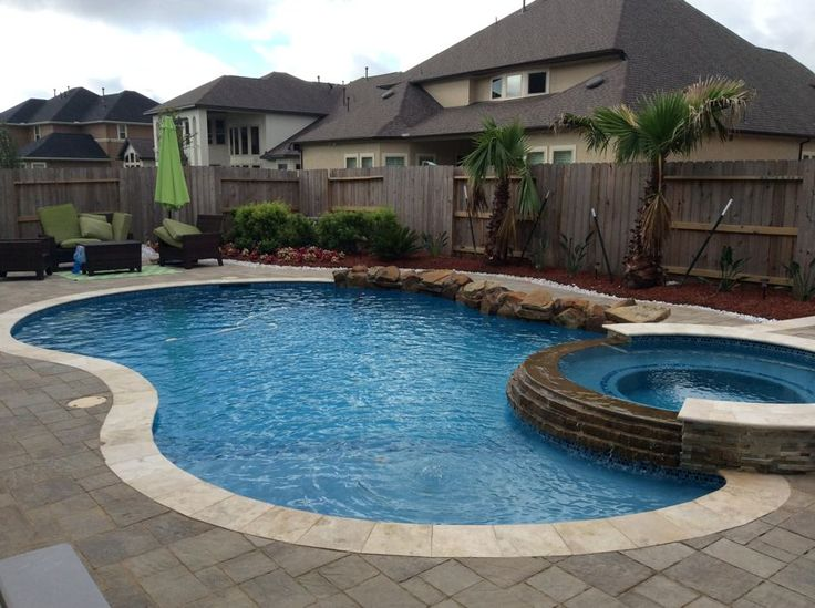Wet pools inc plaster sun stone blue mist raised spa for Pool design katy