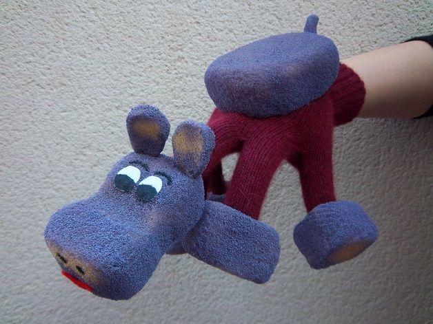 Hippo glove puppet Dawanda