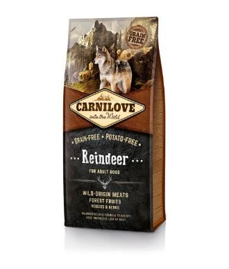 Carnilove Grain-free & Potato-free Reindeer Formula for Adult Dogs of All Breeds. Complete Dog Food.