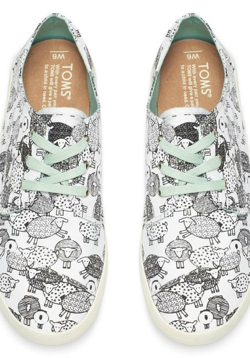 An airy sneaker for stepping into summer adventure, this shoe features a playful sheep print that you will love.