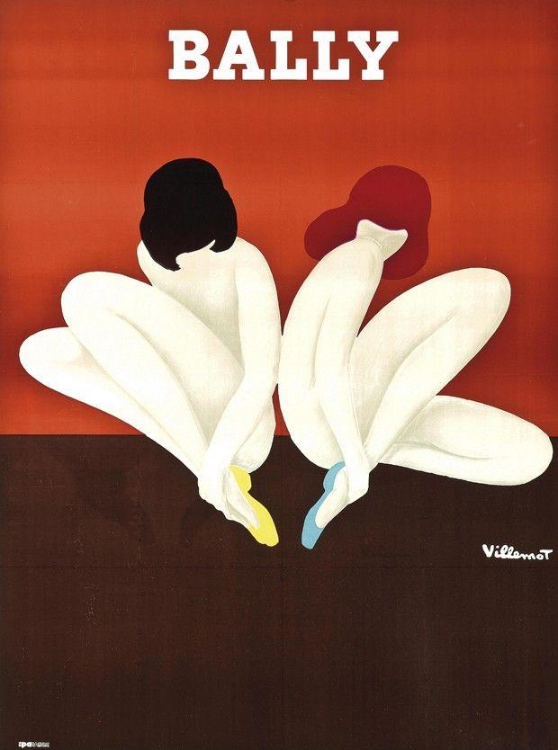 Bernard Villemot (1911-1989). Bally (Le Lotus). Starting bid: £800 (Foto: Courtesy Christie's Images Ltd. 2014)