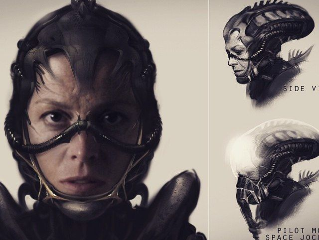 "Guess what? Neill Blomkamp was working on a secret Alien project that included Sigourney Weaver reuniting with Corporal Hicks, and the concept art is gorgeous. But now it's dead, or was never going to be made, and I'm just going to scream ""PROMETHEUS"" into a pillow all day until I pass out from lack of air."