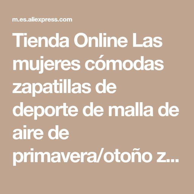 Tienda Online Las mujeres cómodas zapatillas de deporte de malla de aire de primavera/otoño zapatos solid negro/blanco/rosa mujer zapatillas mujer plus tamaño 34-39 | Aliexpress móvil