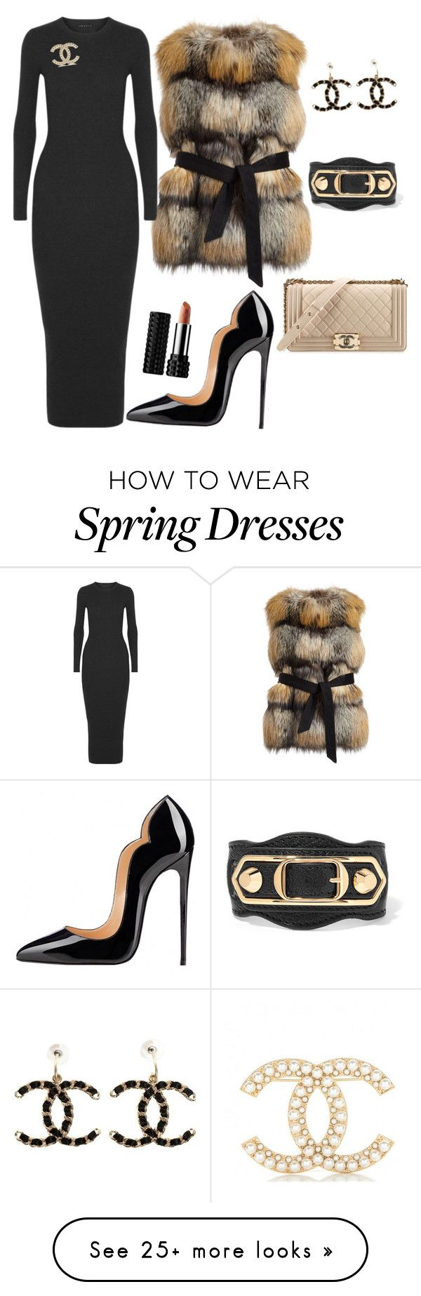 """Untitled #11"" by l-kfoster on Polyvore featuring Gorski, Theory, Balenciaga and Chanel"