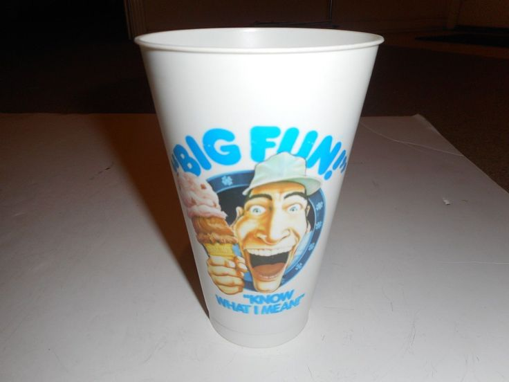 """1980's Braum's Ice Cream Stores Ernest """"know What I Mean"""" Plastic Cup"""