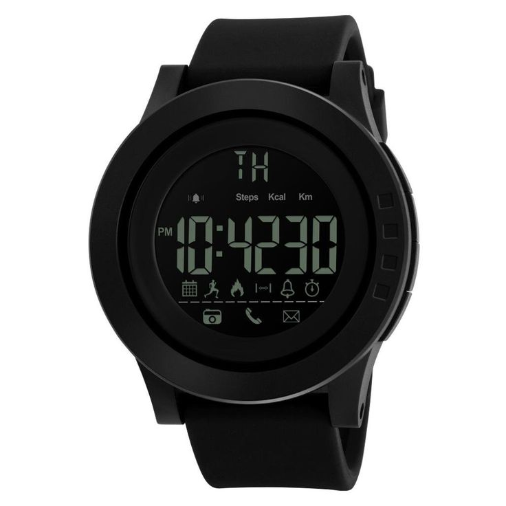 Sport Waterproof Bluetooth Smart Watch Phone Mate For Smartphone (Black). Band Material: SLLICA GEL. Szie:ALL L:255 mm H:55 mm W:47 mm Thickness:14 mm. Supporting: Android And Iphone IOS System. Water Resistant: 50m - 5ATM, Also for shower, swimming. (Please Don't Press Any Key Underwater). Case Diameter: 4.7 cm /// Case Thickness: 1.4 cm /// Band Length: 26.5 cm ///Band Width: 2.2 cm.