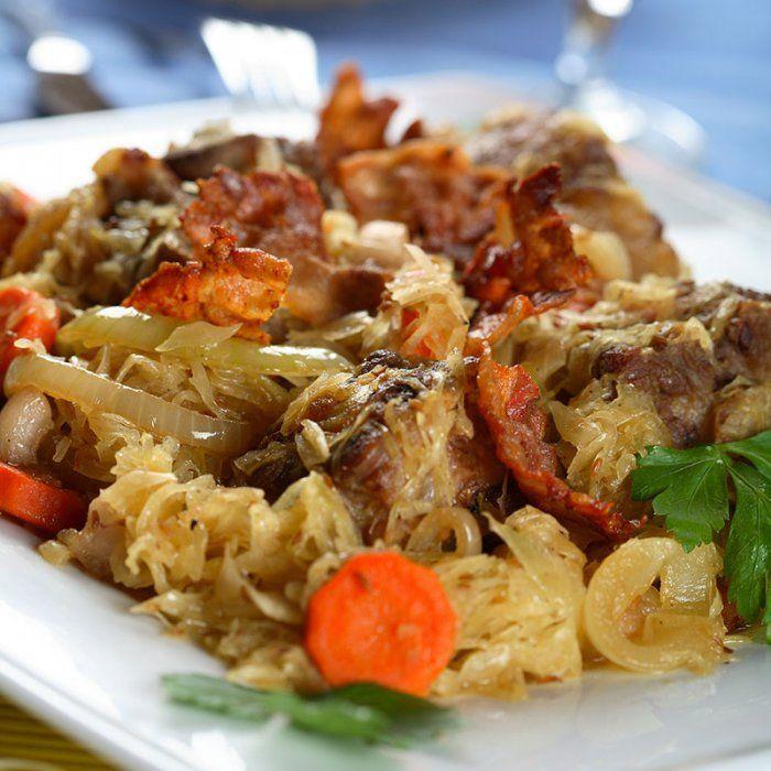 Choucroute allemande ou alsacienne - Cuisiner choucroute cuite ...