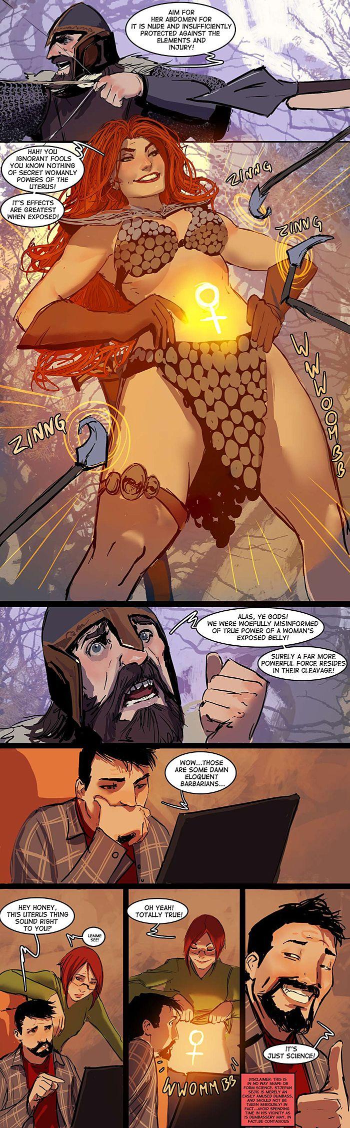 Female Armor Explained!  Womb Power Comic