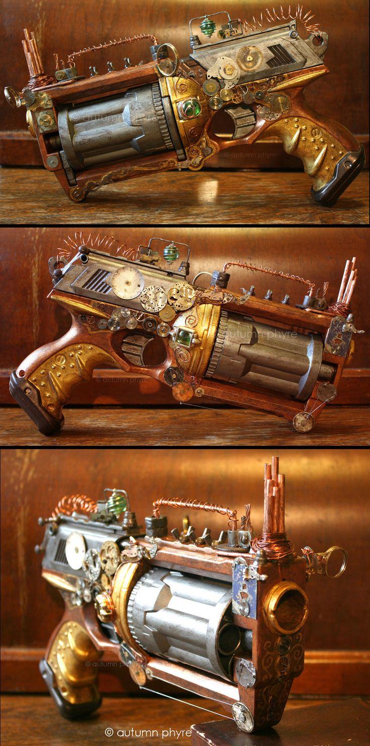 "My large Steampunk gun I made for Ayacon 2011. Named ""Big Gun Betty""!"