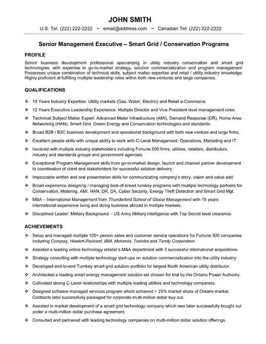 48 best Best Executive Resume Templates \ Samples images on - senior executive resume
