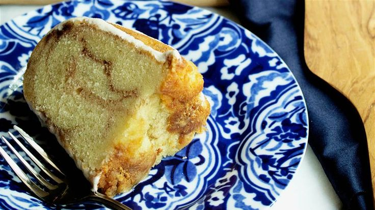 One slice of this cinnamon roll pound cake will not be enough