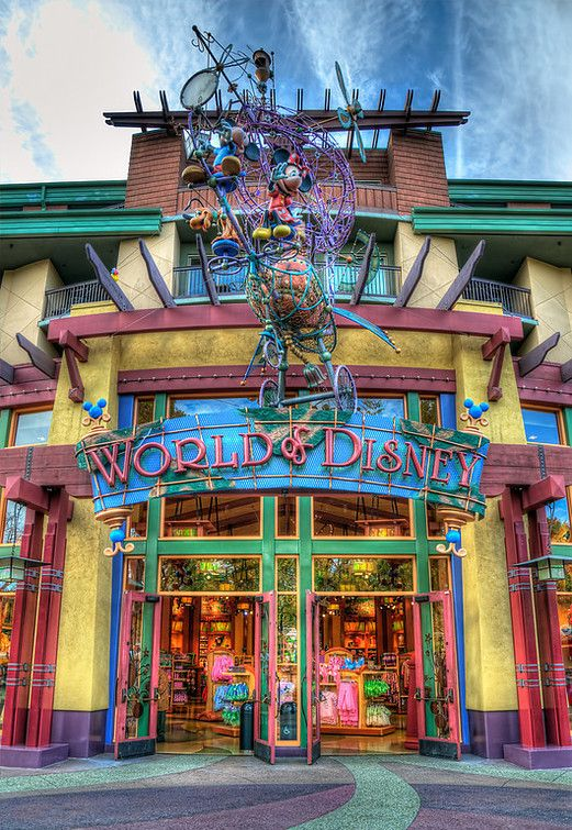 The shops in disney world! World of Disney at downtown disney